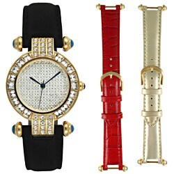 Steve Harvey Women's Goldtone 3-piece Watch