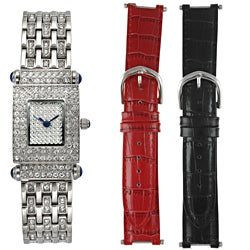Steve Harvey Women's Crystal Silvertone Watch