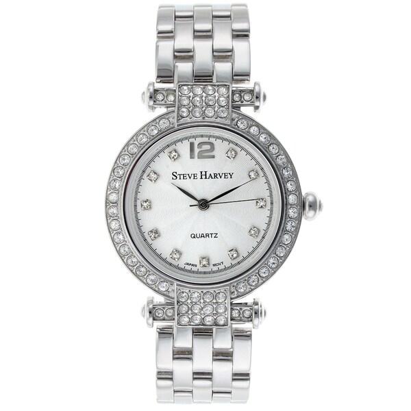 Steve Harvey Women's Silver Crystal Watch