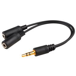 INSTEN Universal Headset Splitter for Apple iPhone 4/ 4S/5/ 5S/ 6