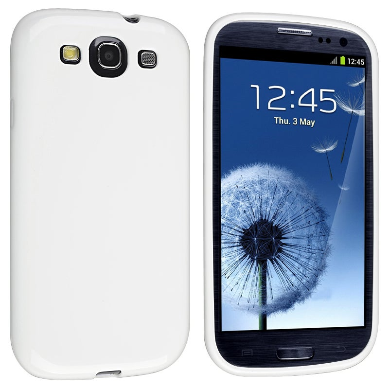 INSTEN White Jelly TPU Rubber Skin Phone Case Cover for Samsung Galaxy S III i9300