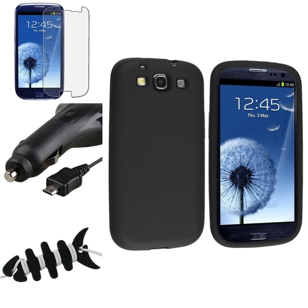 INSTEN Phone Case Cover/ Protector/ Wrap/ Car Charger for Samsung Galaxy S III i9300