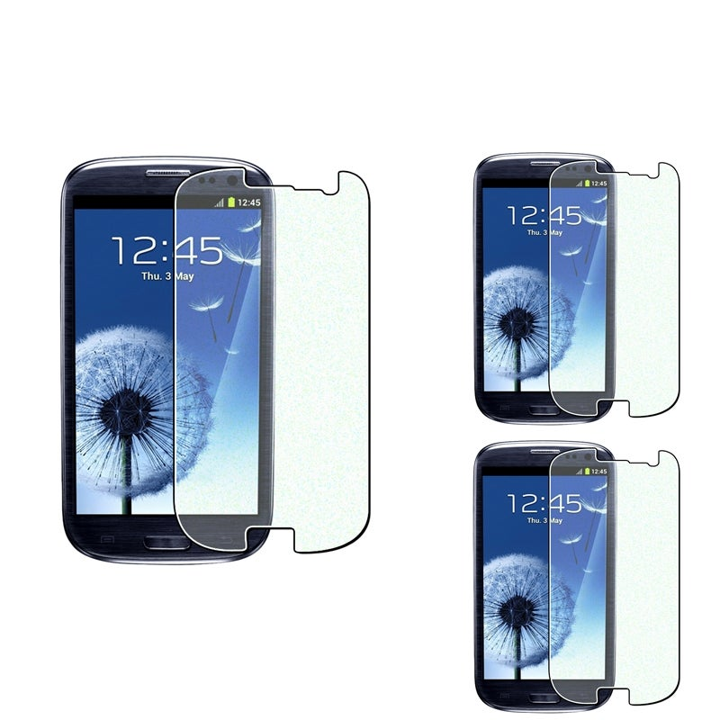 INSTEN Diamond Screen Protector for Samsung Galaxy S III i9300 (Pack of 3)