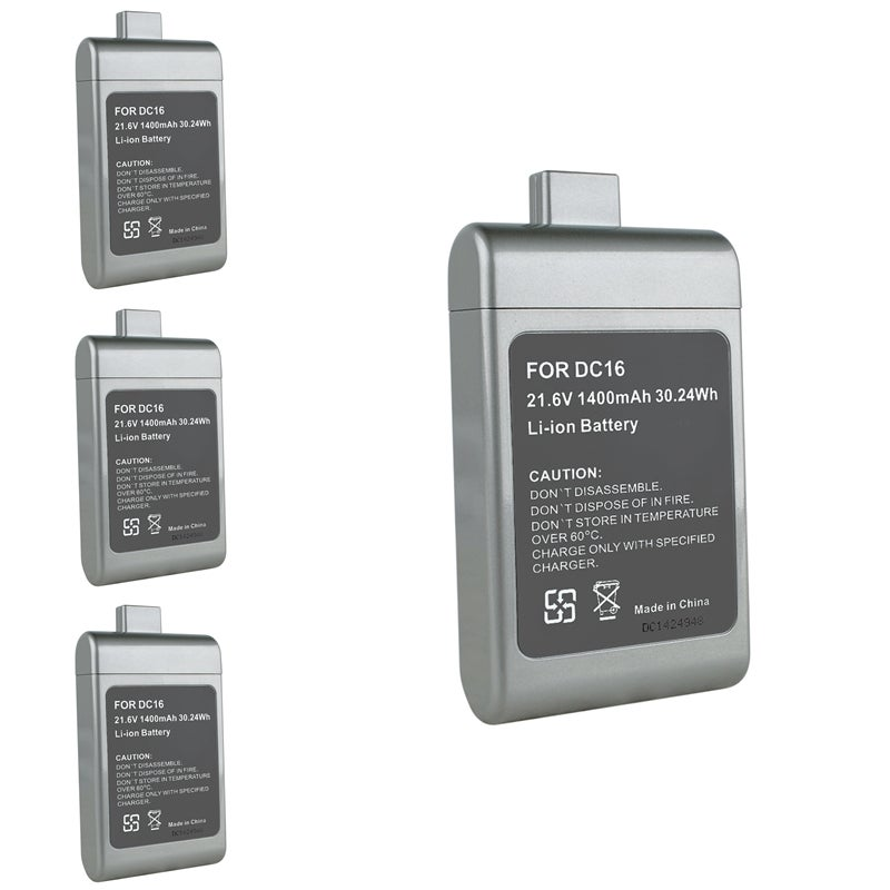 Compatible Li-ion Battery for Dyson DC16 (Pack of 4)