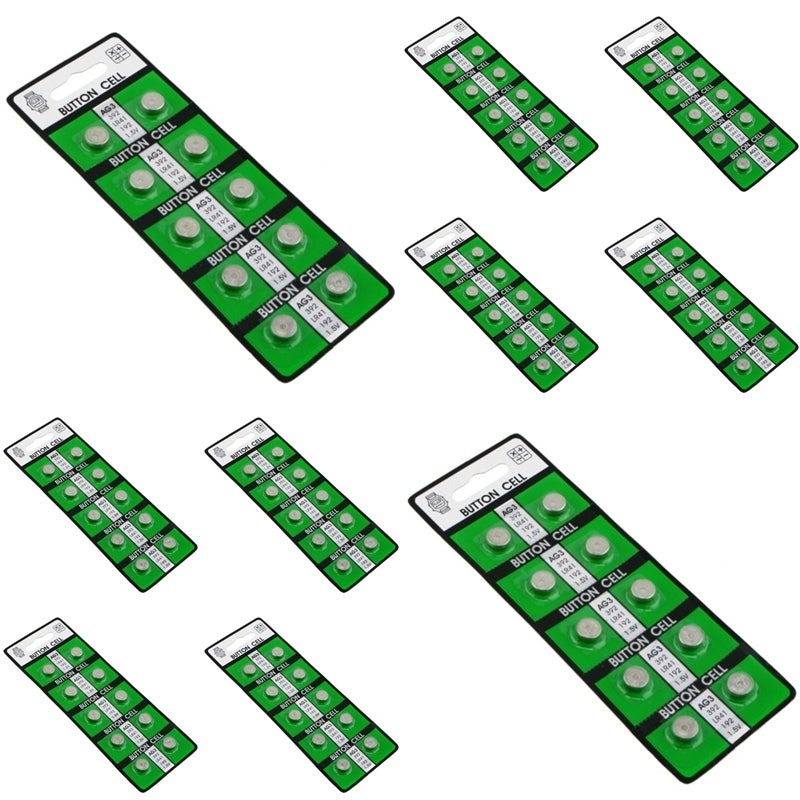 INSTEN AG3 1.5-volt Alkaline Button-cell Battery (Pack of 10)