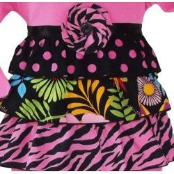 AnnLoren Girls 2 piece Wild Hot Pink Safari Rumba Outfit - Thumbnail 1
