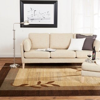 Home Dynamix Royalty Collection Traditional Brown-Blue Area Rug (5'2 x 7'2) - 5'2 x 7'2