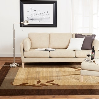 Home Dynamix Royalty Collection Traditional Brown-Blue Area Rug - 5'2 x 7'2