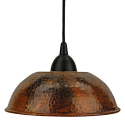 Premier Copper Products Hand Hammered Copper 8.5-Inch Dome Pendant Light (Mexico)