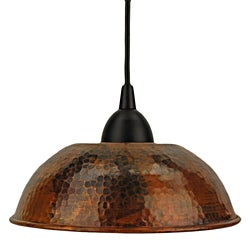 Premier Copper Products Handmade Copper 8.5-Inch Dome Pendant Light (Mexico)