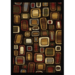 Home Dynamix Royalty Collection Traditional Black-Multi Area Rug (5'2 x 7'2)