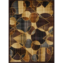Home Dynamix Royalty Collection Traditional Brown/Blue Area Rug (7'8 x 10'4)