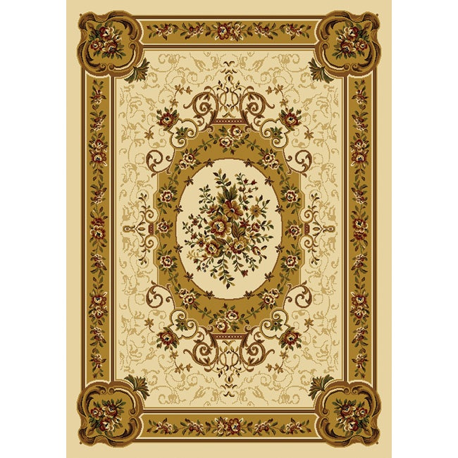 Home Dynamix Royalty Collection Traditional Ivory Area Rug (5'2 x 7'2)