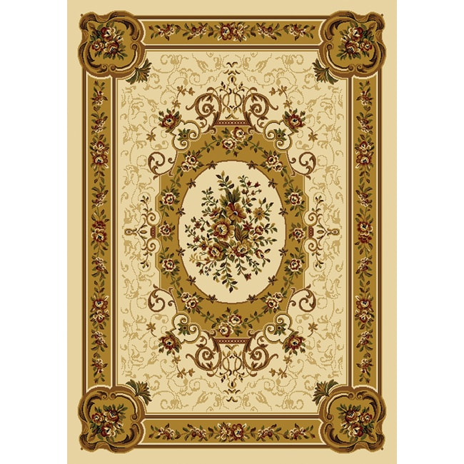 Home Dynamix Royalty Collection Traditional Ivory Area Rug (5'2 x 7'2) - Thumbnail 0