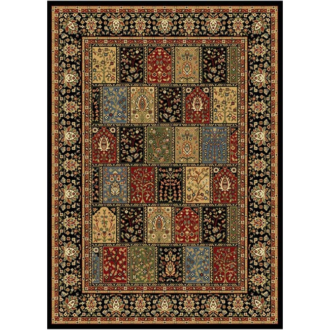 Home Dynamix Royalty Collection Black Machine Made Polypropylene Area Rug (5'2 x 7'2)