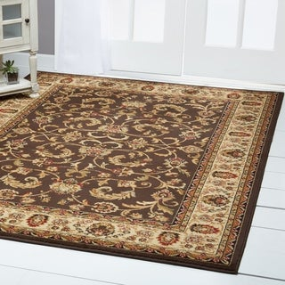 Home Dynamix Royalty Collection Traditional Brown-Ivory Area Rug (5'2 x 7'2)
