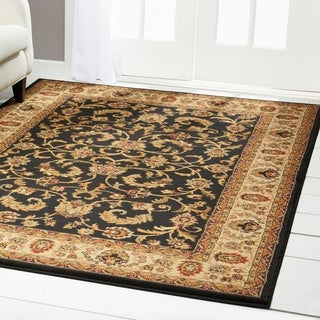 Home Dynamix Royalty Collection Traditional Black-Ivory Area Rug (5'2 x 7'2)