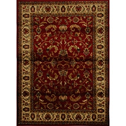 Home Dynamix Royalty Collection Red-Ivory Heat-Set Machine Made Polypropylene Area Rug (5'2 x 7'2)
