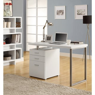 Hollow-core Right/ Left-facing White 48-inch Desk