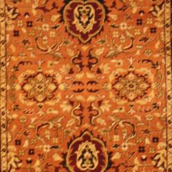 Indo Hand-knotted Mahal Rust/ Black Wool Rug (4' x 6') - Thumbnail 1