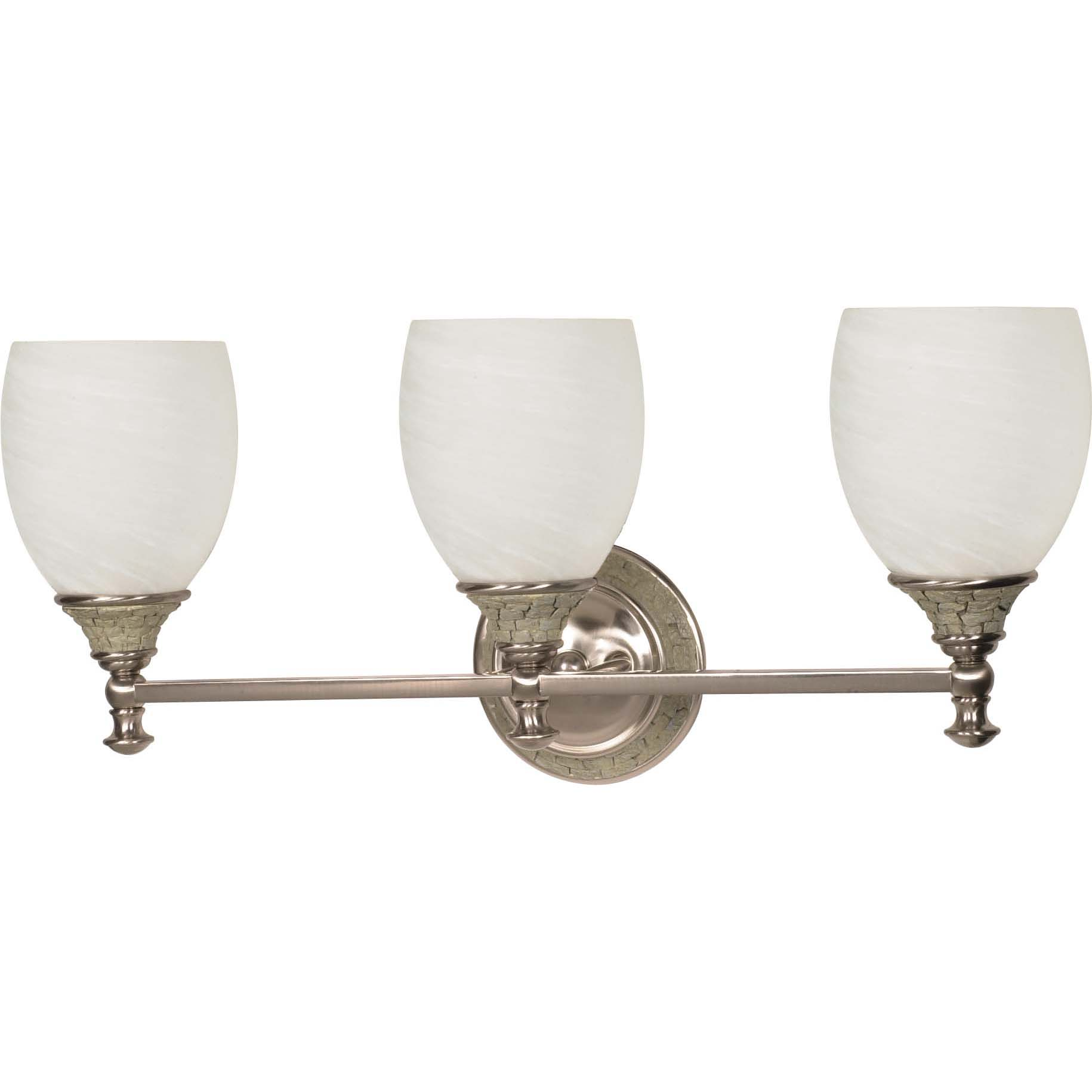 Rockport Milano Alabaster Glass Brushed Nickel 3-Light Vanity Wall Sconce - Free Shipping Today ...