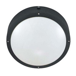 Hudson - 2 Light Round Wall/Ceiling Fixture - Matte Black with White Lexan