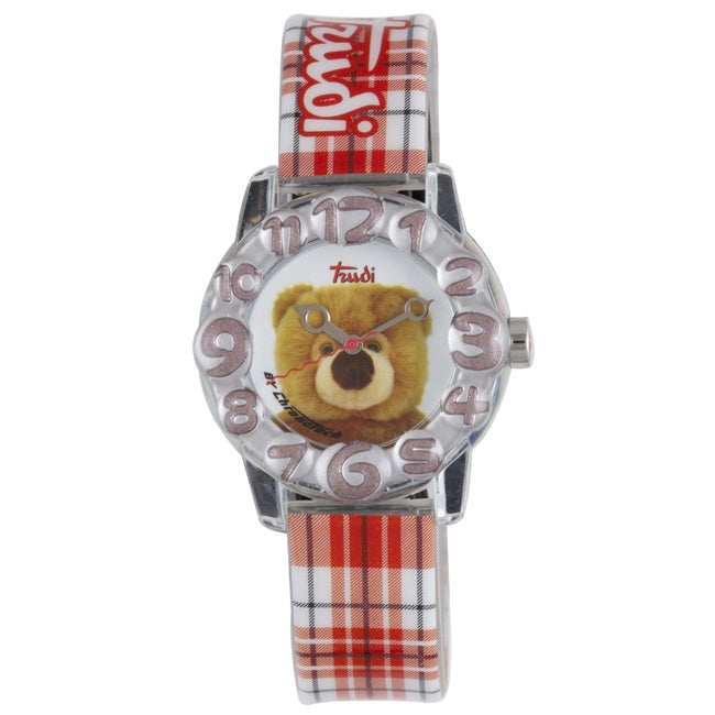 Trudi Kids' Checked Red Plastic Watch