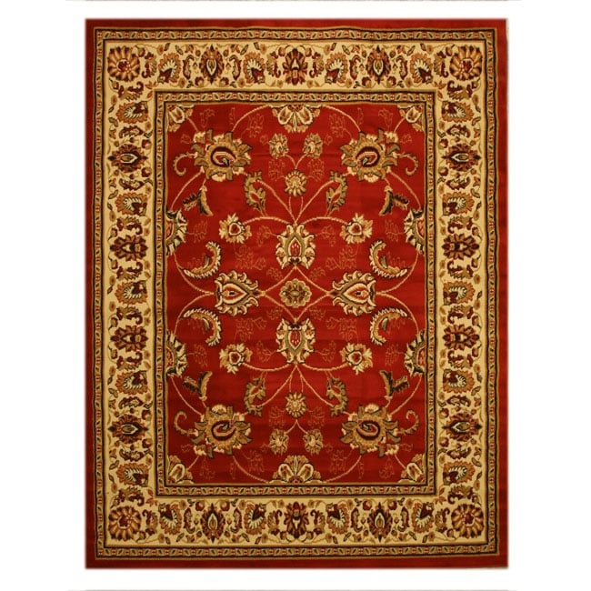 EORC Red Pat 1750RD Rug (7'10 x 10'6) - Thumbnail 0