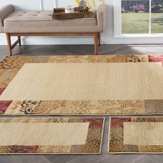 Alise Rhythm Beige Area Rug (Set of 3)