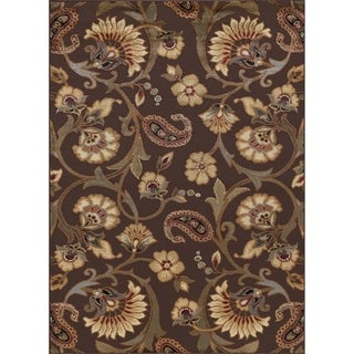 Alise Rhythm Brown Area Rug (7'6' x 9'10) - 7'6 x 9'10