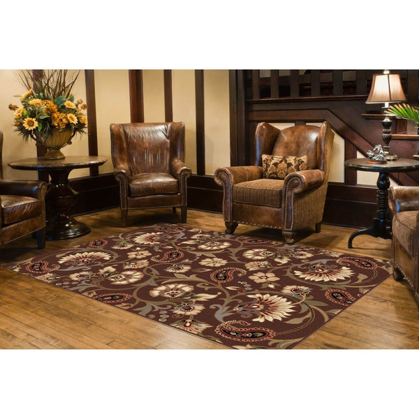 Alise Rhythm Brown Area Rug (7'6' x 9'10)