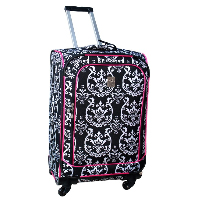 Jenni Chan Damask 360 Quattro 25-inch Hot Pink Spinner Upright Suitcase