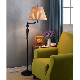 Design Craft Custer Swing Arm 61-inch Floor Lamp