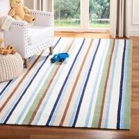 Safavieh Handmade Children's Stripes Cotton Rug - multi - 5' x 8'