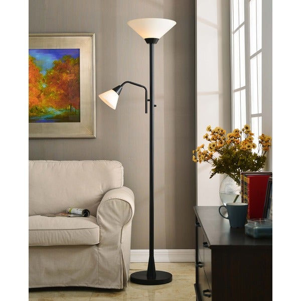 Design Craft Rowe 2-light Oil Rubbed Bronze Torchiere
