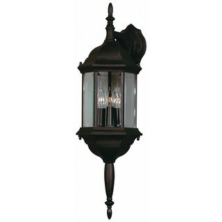 Brubeck Black 3-light Outdoor Lantern Wall Sconce