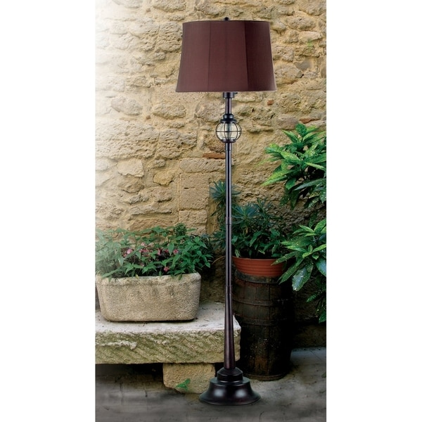 Design Craft Elton Gilded Copper Outdoor Floor Lamp