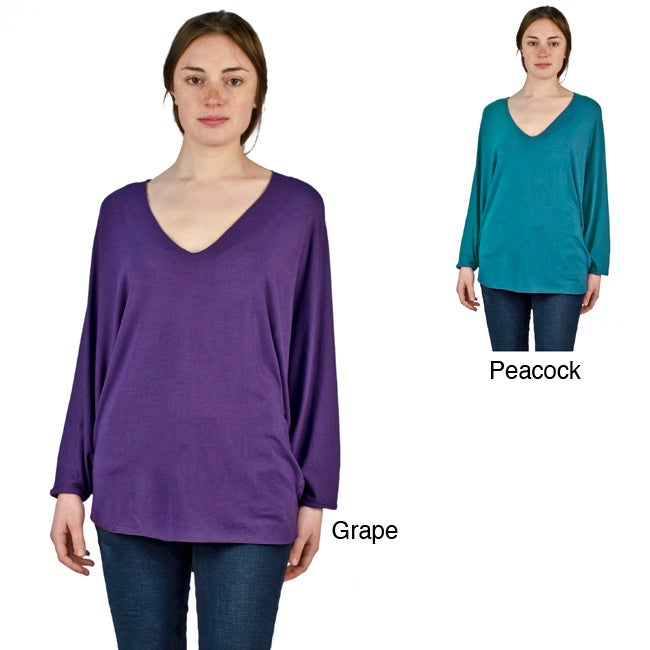 AtoZ Women's Oversized Batwing Top