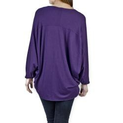 AtoZ Women's Oversized Batwing Top - Thumbnail 1
