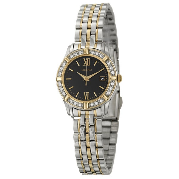 Seiko Women's 'Dress' Two Tone Stainless Steel Quartz Watch