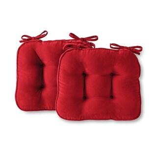 Greendale Home Fashions Scarlet Hyatt Microfiber Chair Pads (Set of 2)