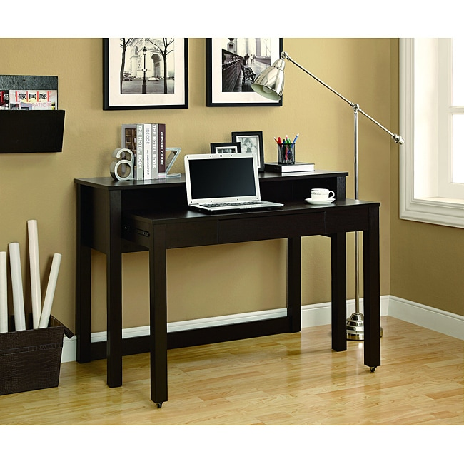 cappuccino 48 inch long spacesaver nesting desk free shipping today