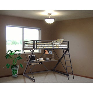 Shop Powell Trinity Full Size Study Loft Bunk Bed Ships