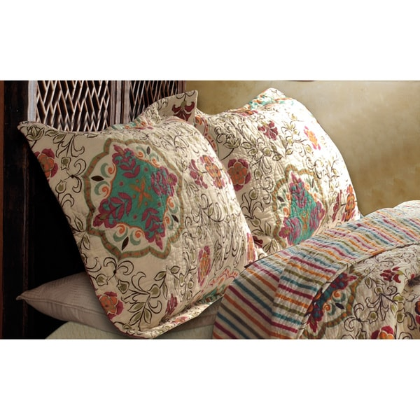 Greenland Home Fashions Esprit Spice Quilted Shams (Set of 2)