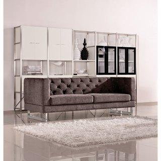 DG Casa Dark Raisin Grey Allegro Sofa