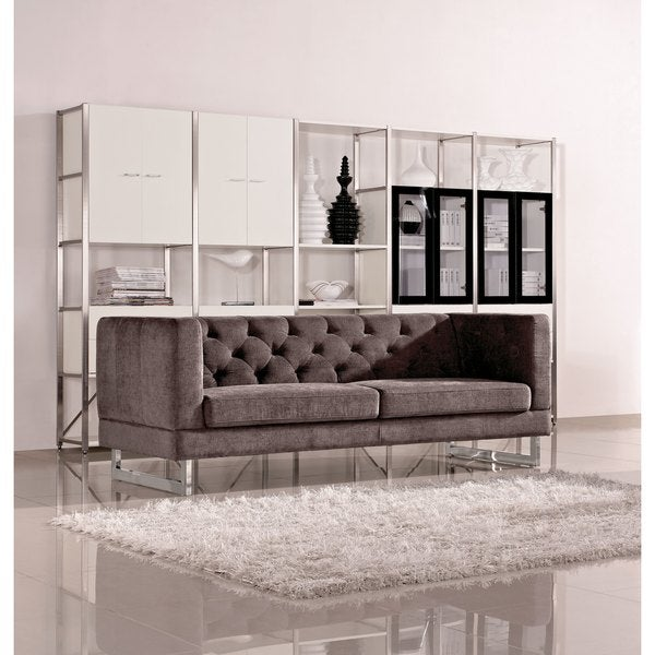 DG Casa Dark Raisin Grey Allegro Sofa