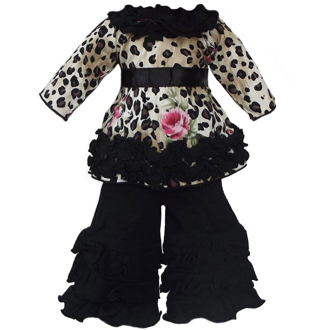 AnnLoren 2 piece Leopard Rose Outfit fits American Girl Doll