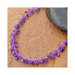 Handmade Amethyst 'Chiang Mai Radiance' Necklace (Thailand)
