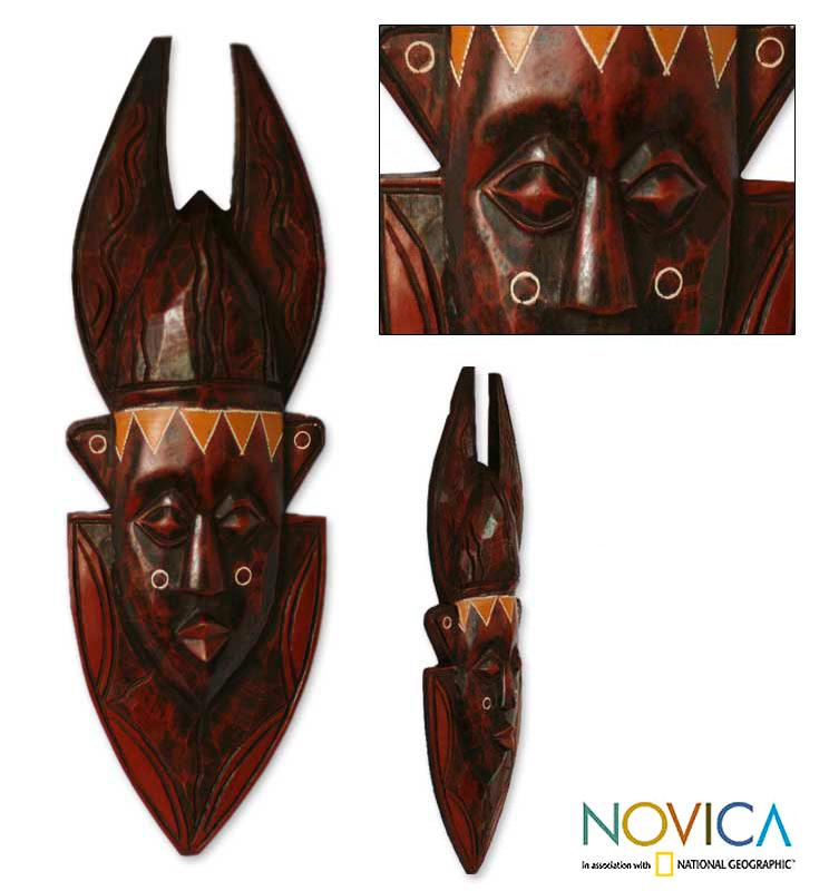 Sese Wood 'In Memoriam' Ashanti Mask (Ghana)