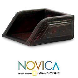 Handmade Leather Complimentary Business Card Holder (Ghana) - N/A